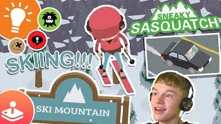 SKIING AND STEALING CARS!!! - SNEAKY SASQUATCH!!!! - Episode 7 - Apple Arcade Gaming