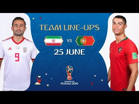 LINEUPS – IR IRAN V PORTUGAL - MATCH 35 @ 2018 FIFA World Cup™