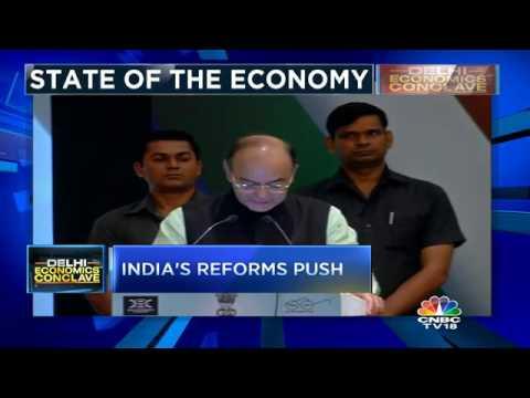 FM Arun Jaitley At Delhi Economics Conclave 2017