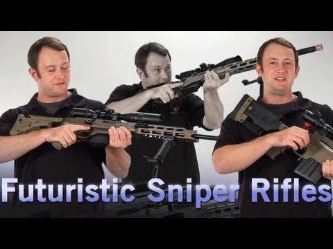 Airsoft GI - Futuristic Sniper Rifles - The AAC-21, Remington MSR, and Ashbury ASW338