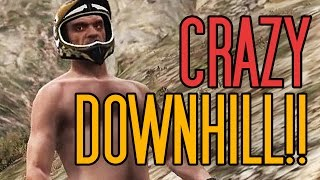 INSANE Mountain Downhill!! GTA V PC Rockstar Editor COOL Moments