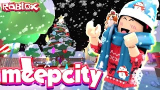 It's Beginning to Look Like Christmas - Roblox MeepCity Christmas Update - DOLLASTIC PLAYS!