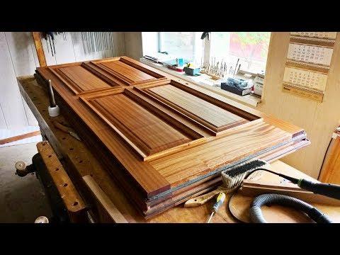 Изготовление входной утепленной двери из массива сапели. Деревообработка / Making A Wood Door