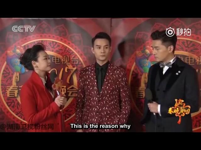 20170127 [EngSub]CCTV Spring Festival Gala rehearsal interview with Hu Ge & Wang Kai