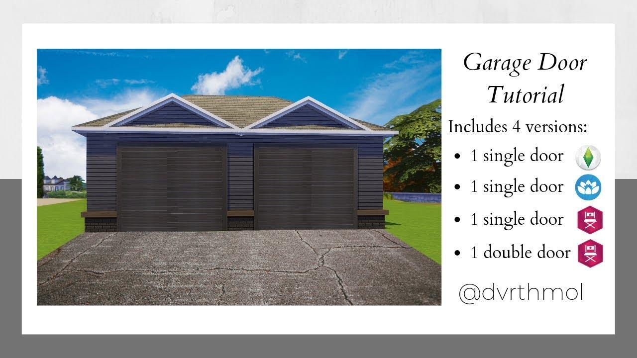 Garage Door Tutorial The Sims 4 Youtube