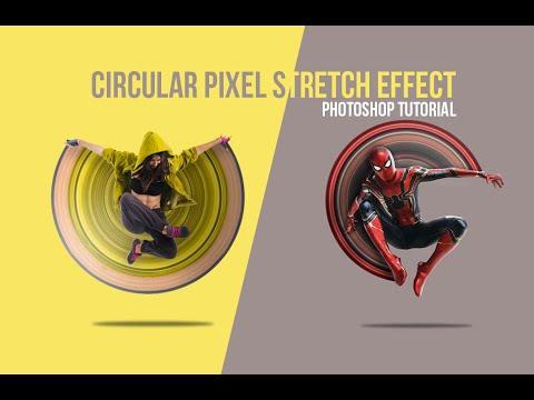 Circular Pixel Stretch Effect   Photoshop Tutorial (Easy) thumbnail