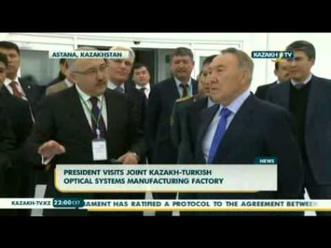 President visits joint Kazakh-Turkish optical systems manufacturing factory