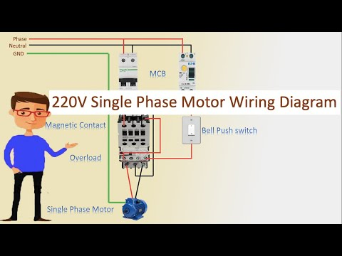 [QNCB_7524]  220V Single Phase Motor Wiring Diagram | Single motor connection | Motor  Connection - YouTube | Wiring Diagram Of Single Phase Motor |  | YouTube