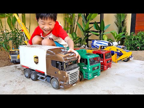 Car Toy Pretend Play with Excavator Truck Toys Activity