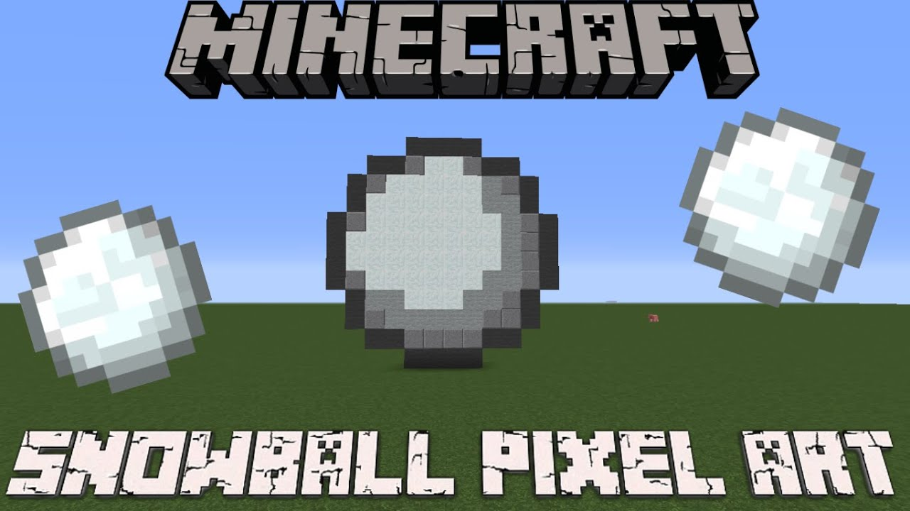 Minecraft Snowball Pixel Art Related Keywords - Minecraft ...