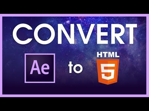 How To Convert After Effects Animations To HTML