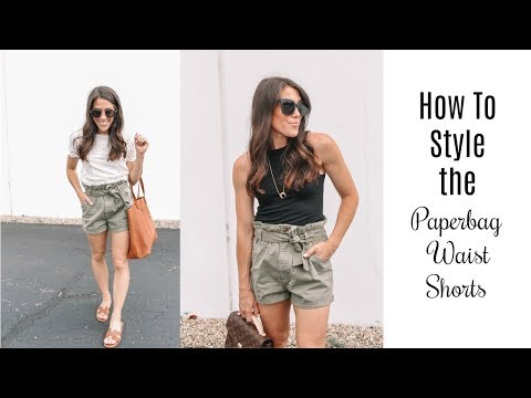 How To Style Paperbag Waist Shorts!!