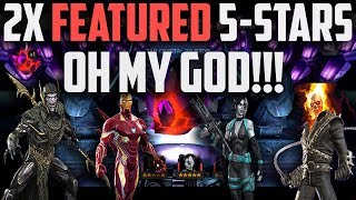 2X Featured 5-Star Crystal Opening - OH MY GOD!!! - Marvel Contest of Champions