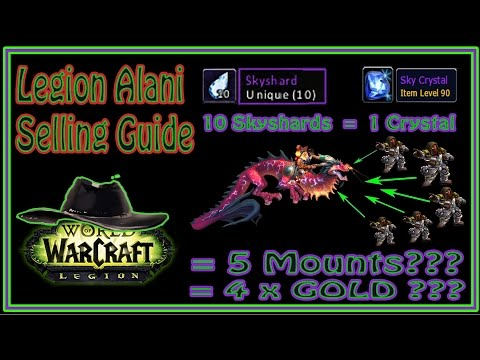 Guide / Tutorial - How to Sell Alani Mount in Legion - 1 Mount = 4 x GOLD?!?!