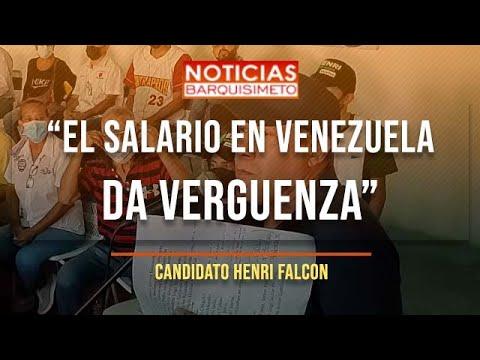 """Henri Falcon: """"El salario de Venezuela da vergüenza"""""""