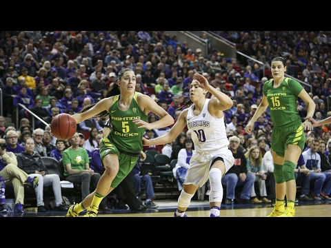 Highlights: Oregon upsets Washington in the Pac-12 Women\'s Basketball Tournament quarterfinals