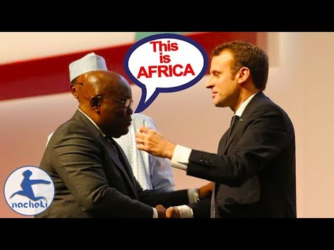 Ghanaian President Embarrass French President With Shocking Speech