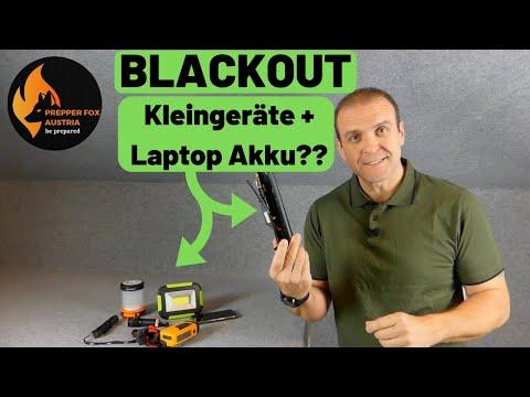 Blackout und Kleingeräte? Und was hat ein alter Laptop Akku damit zu tun? ????