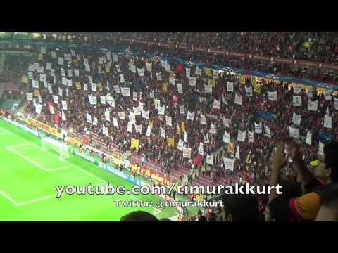 Galatasaray-Kopenhag 3-1 Şampiyonlar Ligi Maç Öncesi ultrAslan Tribün Show