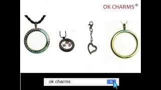 Clear Glass Locket Necklaces with charms inside - Wholesale market