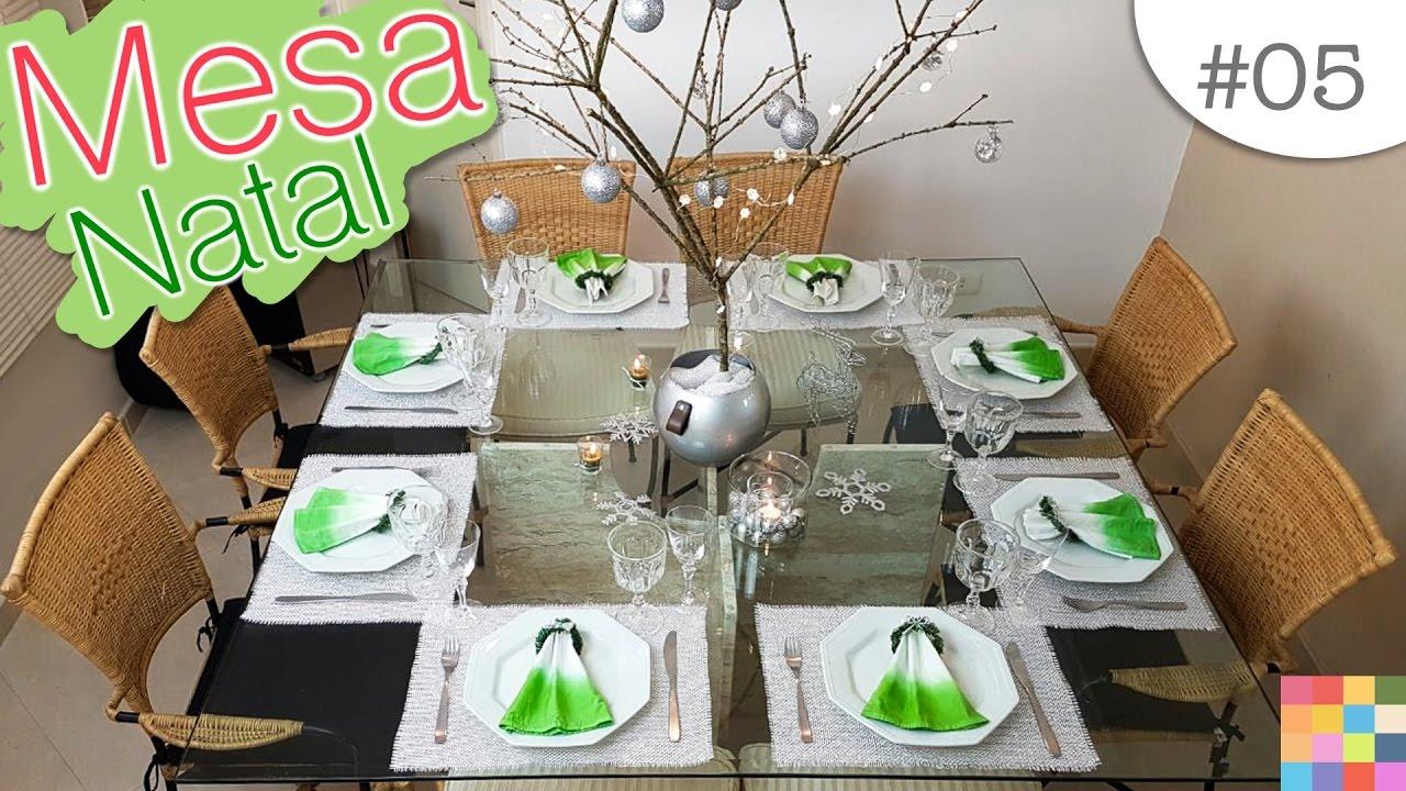 MESA POSTA Natal e Ano Novo Decoraç u00e3o para as festas YouTube -> Como Decorar Frutas Para Ano Novo