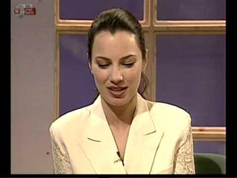 יאיר לפיד מארח את פראן דרשר 1995 Fran Drescher's interview in Israel