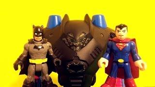 Imaginext Batman's new Robot and Batcave (Super Heroes Fight)