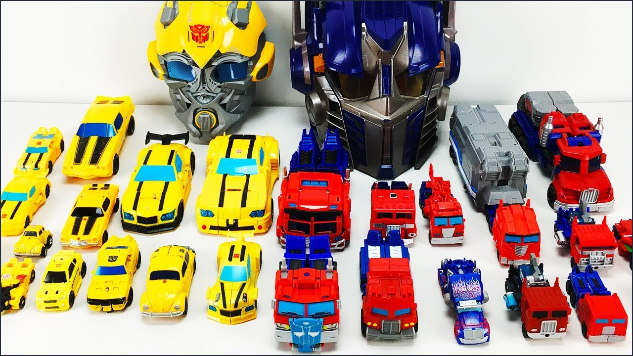 Transformers Toys Transformers Bumblebee And Optimus Prime Robot To Vehicle Collection Youtube