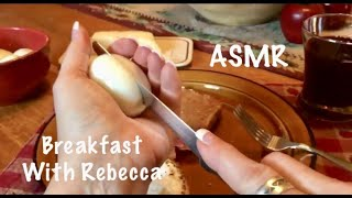 ASMR Cooking Breakfast with Rebecca (No talking) Frying sounds, paper crinkles, running water