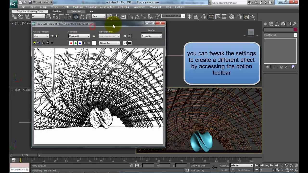 Line Drawing Render 3ds Max : Using illustrate to create vector lines from ds max