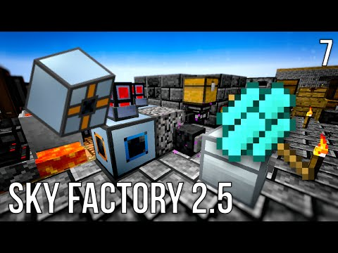 HOW TO AUTOMATE COMPRESSED COBBLESTONE | SKY FACTORY 2.5 | EPISODE 7