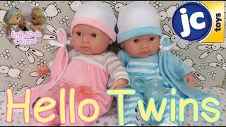 Toys Review| JC Toys La Newborn Twin Baby Dolls Unboxing + Review🎁Realistic Soft Body Baby Dolls 👶