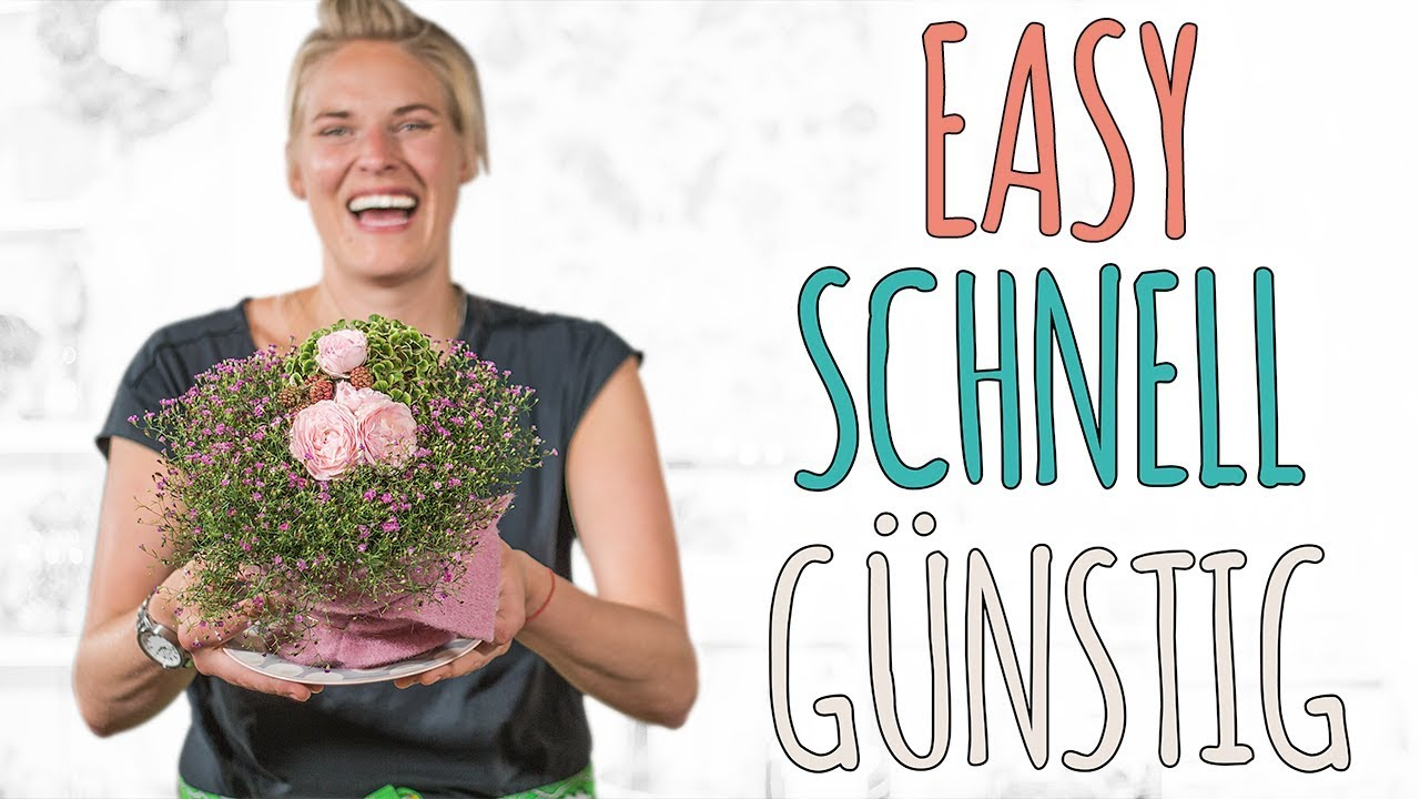 Easy Schnell Gunstig Tischdeko Fur Den Sommer Diy Youtube