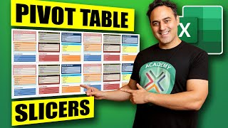 Excel Pivot Table SLICERS: Excel 2013 & 2010