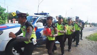 Viral Sat Lantas Polres Sarolangun Goyang Tik Tok Suling Sakti Spongebob Polisi Tiktokan