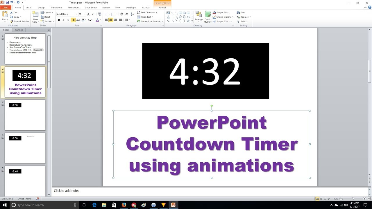 powerpoint countdown timer animation - youtube, Modern powerpoint