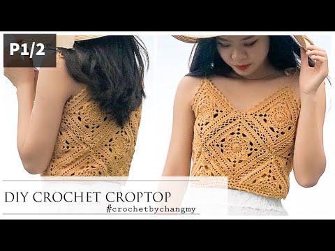 [Engsub] DIY crochet croptop tutorial P.1/2 | ChangMy | Hướng dẫn móc áo 2 dây vintage theo số đo