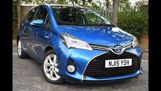Used Toyota Yaris 1.5 Hybrid Excel 5dr CVT Blue 2015