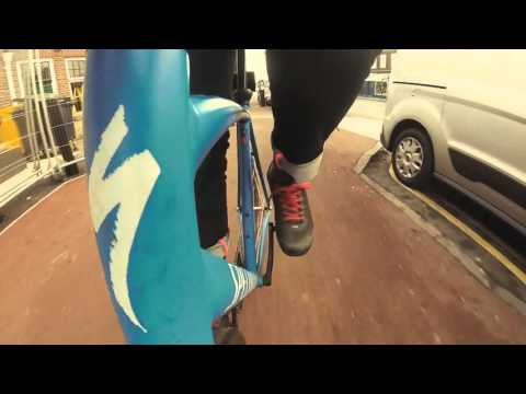 Fixed gear (go pro) commute in Cambridge UK #ForSean