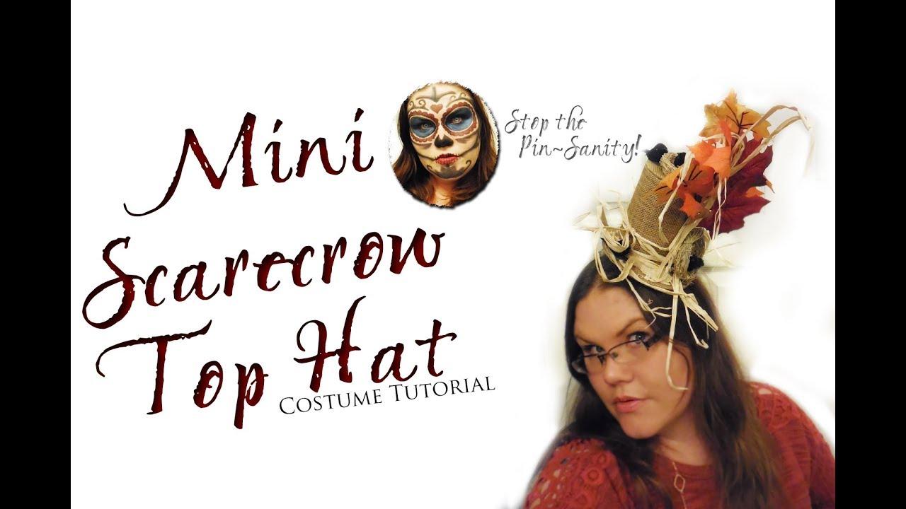 Scarecrow Top Hat Halloween Tutorial - Stop the Pin-Sanity - YouTube