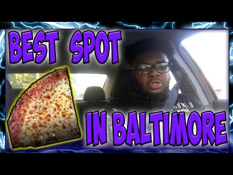 Eating At The BEST Reviewed Pizza Restaurant In Baltimore Maryland | Cheezy's Pizza & Subs Review