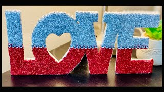 Home decor| Love Sign Decor | Diy Room Decor| DIY from Waste | Valentine Special Craft|