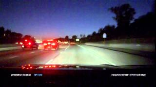 Idiot on a Raised BICYCLE on the Freeway Riding Against and in Between Traffic, Dashcam Footage