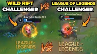 TÜRKİYEDE İLK! TRNİN İLK WILD RIFT CHALLENGER'I VS LOL CHALLENGER 1.Sİ! GAME.TV