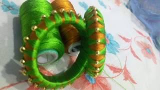 Silk thread woven baby bangles, baby silk thread bangles, homemade silk thread woven bangles