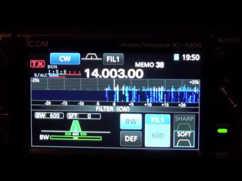 ICOM IC-7300 Filter width adjustments
