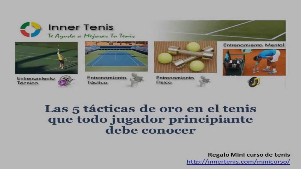 Las 5 tácticas de oro en el tenis que todo jugador principiante debe conocer