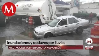 Tormenta 'Fernand' deja afectaciones en Monterrey