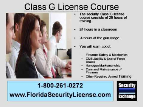 Class G Security Guard Training Jacksonville