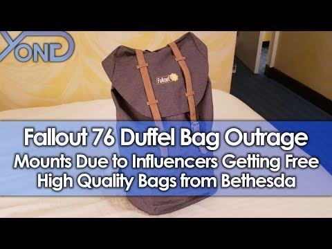 Fallout 76 Duffel Bag Outrage Mounts Due to Influencers Getting Free High Quality Bags from Bethesda